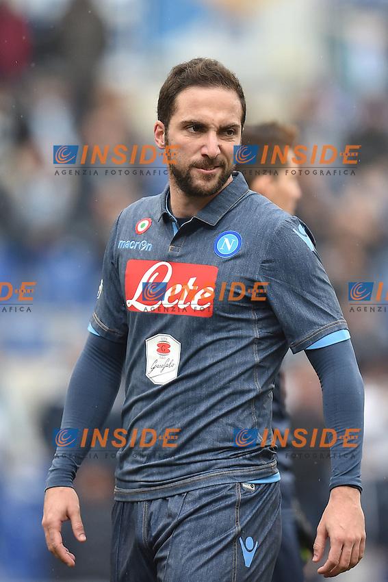 Gonzalo Higuain Napoli <br /> Roma 18-01-2015 Stadio Olimpico, Football Calcio Serie A Lazio - Napoli. Foto Andrea Staccioli / Insidefoto