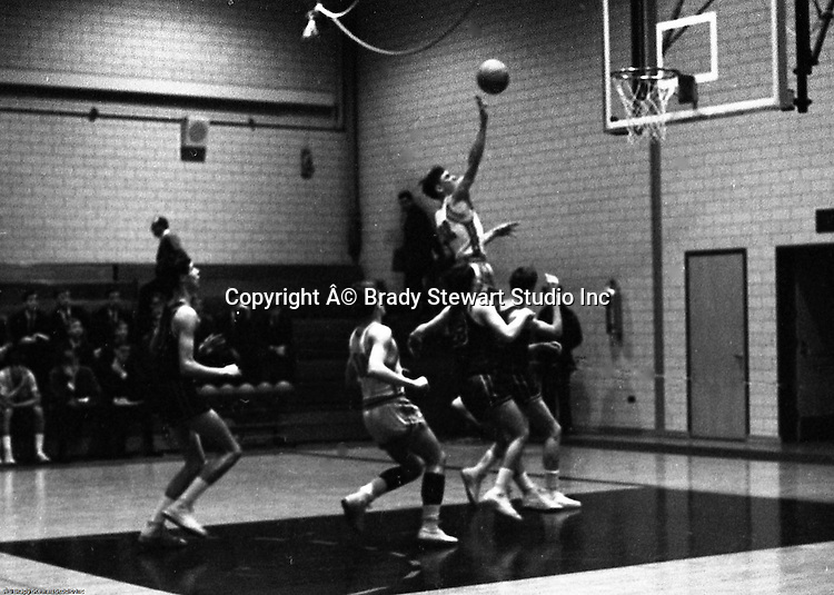 Bethel Park PA:  Scott Streiner shooting a layup against the Mt Lebanon Blue Devils at Bethel Park Gymnasium - 1968. Others in the photo; Mike Stewart. The JV Team was coached by Mr. Reno and the Bethel Park JVs won the Section Championship.  The team included; Scott Streiner, Steve Zemba, John Klein, Mike Stewart, Bruce Evanovich, Jeff Blosel and Tim Sullivan.