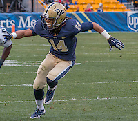Pitt defensive back Avonte Maddox. The Duke Blue Devils defeated the Pitt Panthers 51-48 at Heinz Field, Pittsburgh Pennsylvania on November 1, 2014.