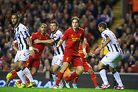 LIVERPOOL, ENGLAND - Thursday, October 4, 2012: Liverpool's Sebastian Coates in action against Udinese Calcio during the UEFA Europa League Group A match at Anfield. (Pic by David Rawcliffe/Propaganda)