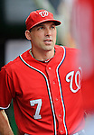 2 September 2012: Washington Nationals' outfielder Mark DeRosa prepares to face the visiting St. Louis Cardinals at Nationals Park in Washington, DC. The Nationals edged out the Cardinals 4-3, capping their 4-game series with three wins. Mandatory Credit: Ed Wolfstein Photo