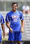 04 September 2011: SMU's Arthur Ivo (BRA). The Southern Methodist University Mustangs defeated the Duke University Blue Devils 1-0 in overtime at Koskinen Stadium in Durham, North Carolina in an NCAA Division I Men's Soccer game.