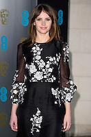 Felicity Jones at the 2017 EE British Academy Film Awards (BAFTA) After-Party held at the Grosvenor House Hotel, London, UK. <br /> 12 February  2017<br /> Picture: Steve Vas/Featureflash/SilverHub 0208 004 5359 sales@silverhubmedia.com