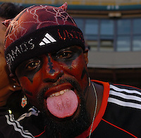 """DC United Fan shows off his """"colors"""""""