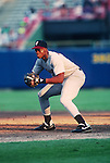 MILWAUKEE - AUG 2:  Frank Thomas of the Chicago White Sox makes his major league debut against the Milwaukee Brewers at County Stadium in Milwaukee, Wisconsin on August 2, 1990.  Thomas played for the White Sox from 1990-2005.  (Photo by Ron Vesely)