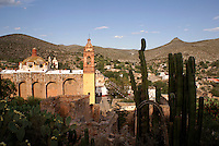 The Spanish colonial mining ghost town of Cerro de San Pedro, San Luis Potosi state, Mexico