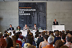 2.7.2015, Berlin Topographie des Terrors. NEBA-Konferenz Antisemitismus heute. Podium (v.l.): Benjamin Steinitz, Julia Schramm, Dr. Jörg Bentmann, Fabian Weißbarth, Volker Beck