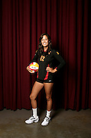 10 August 2010:  #12 Kendall Bateman Setter  on the Pac-10 NCAA College Women's Volleyball team for the USC Trojans Women of Troy photographed at the Galen Center on Campus in Southern California. .Images are for Personal use only.  No Model Release, No Property Release, No Commercial 3rd Party use. .Photo Credit should read: &copy;2010ShellyCastellano.com