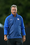 04 October 2014: Duke head coach Robbie Church. The Duke University Blue Devils hosted the University of Louisville Cardinals at Koskinen Stadium in Durham, North Carolina in a 2014 NCAA Division I Women's Soccer match. The game ended in a 0-0 tie after double overtime.