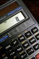 CALCULATOR DISPLAY OF SIGNIFICANT NUMBERS<br /> (Variations Available)<br /> Display Reading 8<br /> Liquid Crystal Display (LCD)