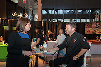 Chef Emerie Brine and Catherine Shaw of Bernardin at FoodShare Toronto's Recipe for Change, February 28,  2013