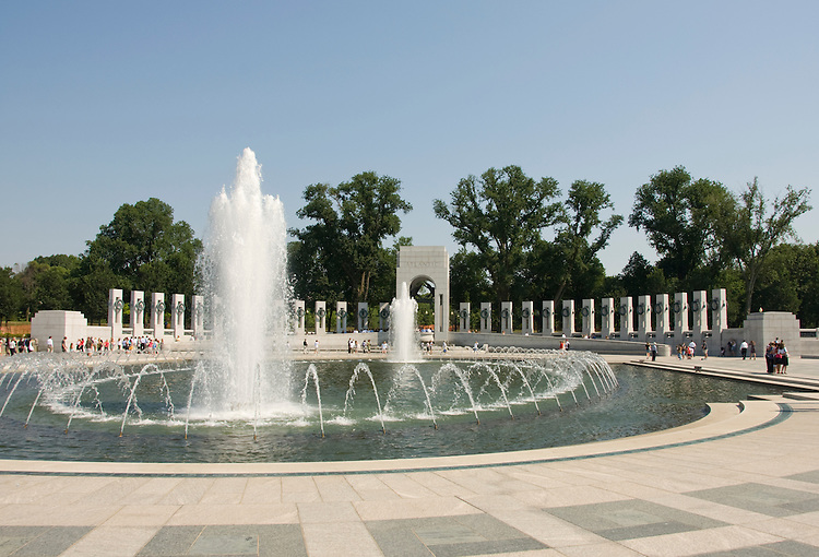 Washington DC; USA: The National World War II Memorial on the Mall..Photo copyright Lee Foster Photo # 7-washdc83211
