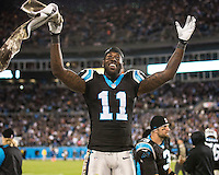 The Carolina Panthers play the New England Patriots at Bank of America Stadium in Charlotte North Carolina on Monday Night Football.  The Panthers defeated the Patriots 24-20.  Carolina Panthers wide receiver Brandon LaFell (11)