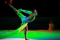 "Anna Bessonova of Ukraine holds balance during gala at 2008 World Cup Kiev, ""Deriugina Cup"" in Kiev, Ukraine on March 22, 2008."