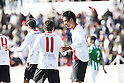 (L-R) Alfaro, Hiroshi Ibusuki (Sevilla Atletico), JANUARY 29, 2012 - Football / Soccer : Hiroshi Ibusuki of Sevilla Atletico celebrates his goal during the Spanish &quot;Segunda Division B&quot; Group 4 match between Sevilla Atletico 1-1 Real Betis B at the Ciudad Deportiva de Sevilla, Sevilla, Spain. (Photo by AFLO) [3604]