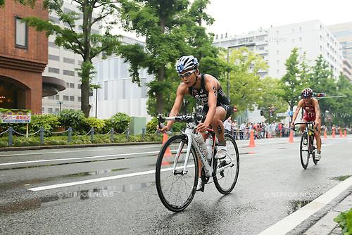 Mariko Adachi (JPN), <br /> MAY 16, 2015 - Triathlon : <br /> 2015 ITU World Triathlon Series Yokohama <br /> Women's Elite <br /> in Yokohama city, Kanagawa, Japan. <br /> (Photo by YUTAKA/AFLO SPORT)