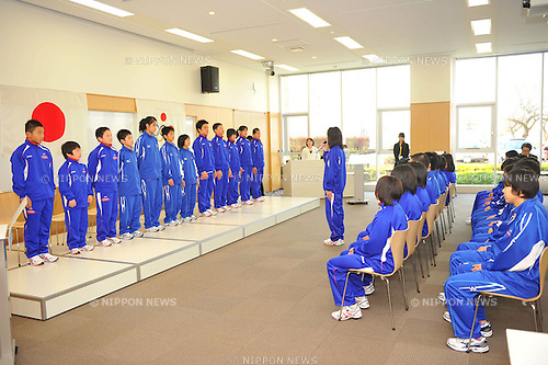 APRIL 6, 2011 - News: JOC Elite Academy opening ceremony at National Training Center in Tokyo, Japan. (Photo by Atsushi Tomura/AFLO SPORT) [1035]