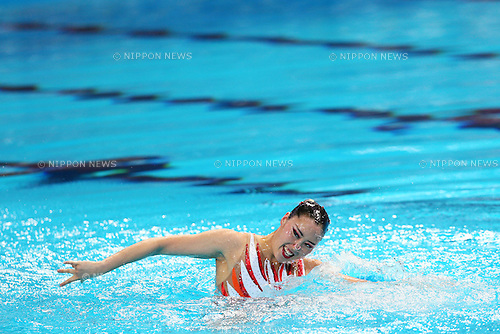 Yukiko Inui (JPN), JULY 31, 2015 - Synchronised Swimming : 16th FINA World Championships Kazan 2015 Solo Free Routine Final at Kazan Arena in Kazan, Russia. (Photo by Yohei Osada/AFLO SPORT)