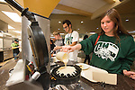 Tanner Gerlacher tries out the dinning hall food at Nelson during Bobcat Student Orientation. Photo by Ben Siegel/ Ohio University