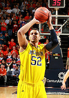 CHARLOTTESVILLE, VA- NOVEMBER 29: Colton Christian #45 of the Michigan Wolverines handles the ball during the game on November 29, 2011 at the John Paul Jones Arena in Charlottesville, Virginia. Virginia defeated Michigan 70-58. (Photo by Andrew Shurtleff/Getty Images) *** Local Caption *** Colton Christian