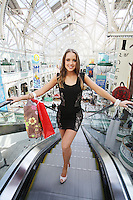 27/9/2010. Miss Ireland. Newly crowned Miss Ireland Emma Waldron checks out the Autumn fashion on offer in Stephen's Green Shopping Centre in the lead up to the Dublin Festival of Fashion which takes place from 1st - 3rd October. Miss  Ireland will then be heading off to  Sanya ,  China where she will be representing  Ireland in the Miss World finals. Picture James Horan/Collins Photos