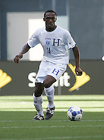 Carlos Palacios dribbles the ball. Honduras defeated Haiti 1-0 during the First Round of the 2009 CONCACAF Gold Cup at Qwest Field in Seattle, Washington on July 4, 2009.