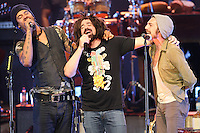 07/21/09 Los Angeles, CA:  Michael Franti, Adam Duritz,  of Counting  Crows and Dan Layus of Augustana perform at the Greek Theatre.