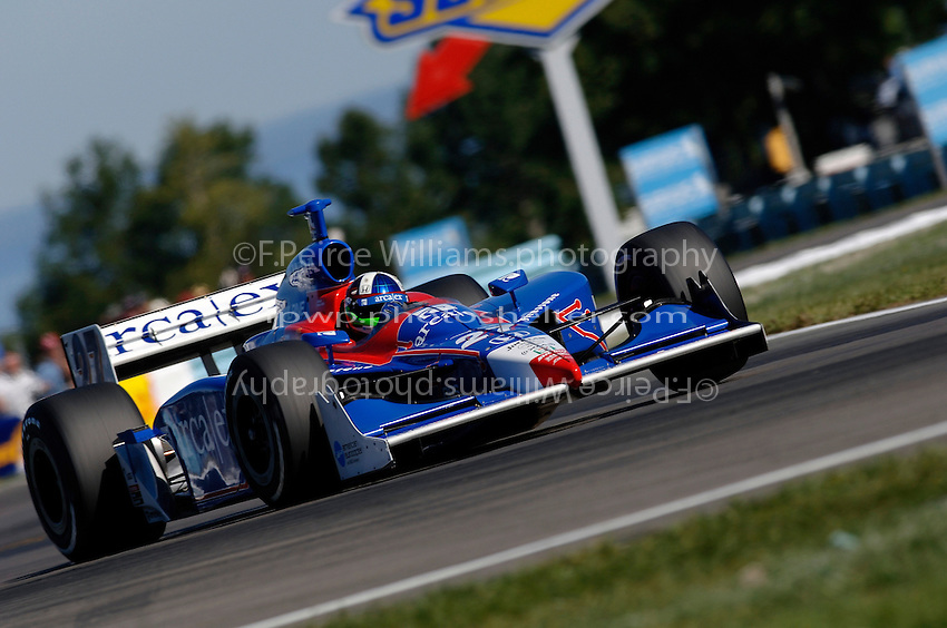 23-25 September,2005, Watkins Glen,New YorkUSA.Dario Franchitti races through the chicane..Copyright©F.Peirce Williams 2005.