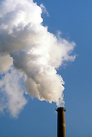 SMOKESTACK: BILLOWING WHITE SMOKE<br /> Con Edison Power Station,<br /> New York