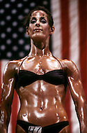 New York City, NY - June 20, 1981 <br /> Women will start competing in the early 1980. Valerie Mayers takes the Ms. Empire State competition. <br /> New York City, NY. 20 juin, 1981. <br /> Les femmes prendront part aux comp&eacute;titions au d&eacute;but des ann&eacute;es 80. Valerie Mayers au concours de Miss Empire State qu&rsquo;elle va remporter.