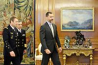 Prince Felipe of Spain Attends Audiences