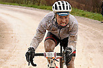 A wet day for the 5000 riders on the muddy gravel roads of Tuscany during the 2017 Strade Bianche Gran Fondo by Trek,,running 127km from Siena to Siena, Tuscany, Italy 5th March 2017.<br /> Picture: La Presse/Fabio Ferrari | Newsfile<br /> <br /> <br /> All photos usage must carry mandatory copyright credit (&copy; Newsfile | La Presse)