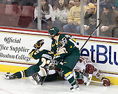 Connor Brickley (Vermont - 23), Anthony DeCenzo (Vermont - 14), Bill Arnold (BC - 24) - The Boston College Eagles defeated the visiting University of Vermont Catamounts 6-0 on Sunday, November 28, 2010, at Conte Forum in Chestnut Hill, Massachusetts.