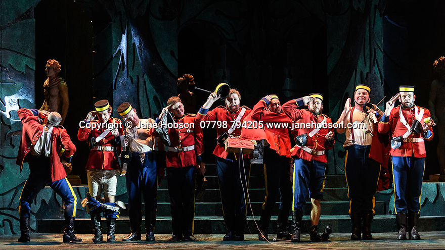 London, UK. 07.03.2017. English Touring Opera presents PATIENCE, by Gilbert & Sullivan, at the Hackney Empire, prior to its UK tour. Photograph © Jane Hobson.