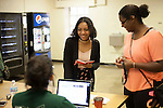 Samaria Gonzalez, left, checks in to Atkinson Complex on Friday, August 19, 2016. © Ohio University / Photo by Kaitlin Owens