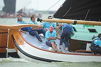 SKUTSJESILEN: SKS2013: SKS kampioenschap 2013, schipper Bolsward, Pieter Meeter, ©foto Martin de Jong