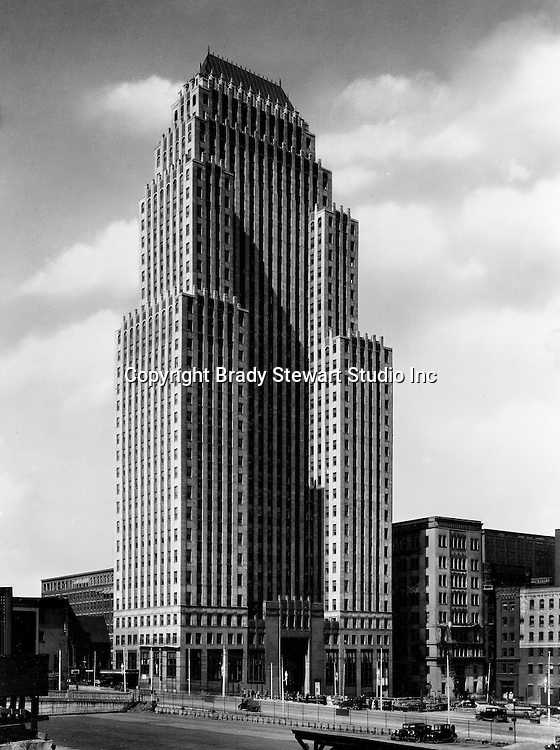Pittsburgh PA:  On location photography for Kopper's advertising agency.  The Koppers Building is located off Grant Street in downtown Pittsburgh Pennsylvania - 1930.  The Koppers Building is named after the Koppers Chemical Company and was built in 1929.