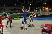 SCHAATSEN: AMSTERDAM: Olympisch Stadion, 02-03-2014, KPN NK Mass Start, Coolste Baan van Nederland, Irene Schouten (#100) wordt Nederlands kampioene, ©foto Martin de Jong
