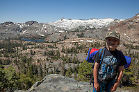 """Backpacking in Desolation WIlderness"" - This boy was photographed backpacking above Susie Lake in the Tahoe Desolation Wilderness."