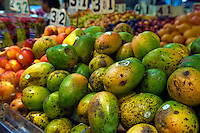 Papayas, fresh, fruits, Urban, Downtown, Farm-fresh produce,  Grand Central, Market, Los Angeles CA
