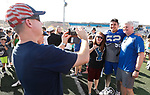 _W1_8525<br /> <br /> The BYU Football Team holds a public practice and Fan Fest at Dixie High School in St. George, Utah.<br /> <br /> 2017 BYU Football - Spring Practice March 17, 2017<br /> <br /> March 17, 2017<br /> <br /> Photo by Jaren Wilkey/BYU<br /> <br /> &copy; BYU PHOTO 2017<br /> All Rights Reserved<br /> photo@byu.edu  (801)422-7322