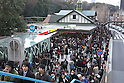 March 11, 2011, Tokyo, Japan - Roads flooded and workers evacuate buildings in the Greater Tokyo area as a series of earthquakes struck Japanfs northeastern prefectures. Hundreds of people are feared dead after the countryfs biggest earthquake with a magnitude of 8.9 since records began struck the northeastern coasts, unleashing a 10-metre tsunami that swept away buildings, ships and vehicles. (Photo by AFLO) [3609] -mis-