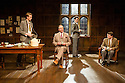 London, UK. 02.04.2014. ANOTHER COUNTRY, by Julian Mitchell, directed by Jeremy Herrin, opens at the Trafalgar Studios after a successful run at Chichester's Minerva Theatre last year. Picture shows: Rob Callender (Bennett), Vaughan Cunningham (Julian Wadham), Mark Donald (devenish) and James Parris (Menzies). Photograph © Jane Hobson.