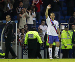 The De Boer brothers wave goodby to the Rangers fans at Ibrox as they bow out and leave. 12th May 2004