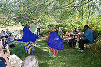 Dancing at Somali Bantu harvest festival, New Gloucester Maine