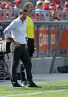 July 20, 2013: Toronto FC head coach Ryan Nelsen watches the action during a game between Toronto FC and the New York Red Bulls at BMO Field in Toronto, Ontario Canada.<br /> The game ended in a 0-0 draw.