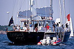 S/Y Axia, race committee boat at the Newport Bermuda Race 2010.