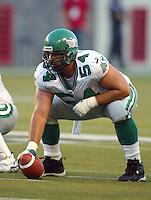 Jeremy O'Day Saskatchewan Roughriders 2003. Photo copyright Scott Grant.