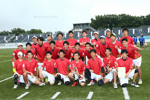 Loquitos Team Group, <br /> JULY 5, 2014 - Flying Disc : <br /> All Japan Ultimate Championship 2014, <br /> between Buzz 14-12 Loquitos <br /> at Ajinomoto Stadium Aminovital Field, Tokyo, Japan. <br /> (Photo by AFLO SPORT) [1205]