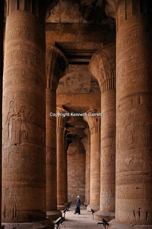 Zahi Hawass Secret Egypt Travel Guide; Egypt; archaeology; Edfu Temple, Hathor, Ptolemaic, hypostyle hall